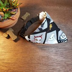 Dog / Cat Bandana (Over the Collar) - The Nightmare Before Christmas // Disney // Sally and Jack // Gift for Pets // Slip on Bandana Cat Bandana, Cute Aprons, Dogs Of The World, Bandanas, Nightmare Before Christmas, Perfect Fit, Pup, Dog Cat, Personality