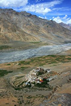 Key Gompa is a Tibetan Buddhist monastery located on top of a hill at an altitude of 4,166 metres above sea level, close to the Spiti River, in the Spiti Valley of Himachal Pradesh, Lahaul and Spiti district
