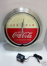 NEW Coca-Cola Neon Clock 50's Vintage Style LIMITED COLLECTABLE Coke Clock
