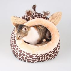 Funny Giraffe Leopard Small Pet Dog Cat Sofa Bed Pet House Kennels Animals Shape Winter Warm Fleece Dog Puppy Cave Bed Nest Cushion -- You can get more details by clicking on the image. (This is an affiliate link and I receive a commission for the sales)
