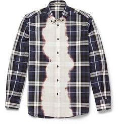 Bottega VenetaSlim-Fit Bleached Checked Cotton Shirt