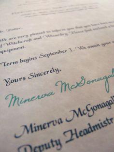 Make your own Hogwarts acceptance letter.