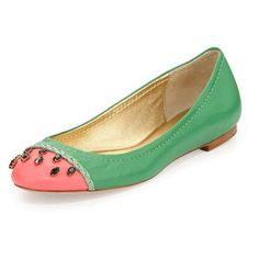 kate spade new york jade watermelon ballerina flat, grass green ❤ liked on Polyvore featuring shoes, flats, woven ballet flats, ballet shoes, ballet pumps, round toe ballet flats and kate spade flats
