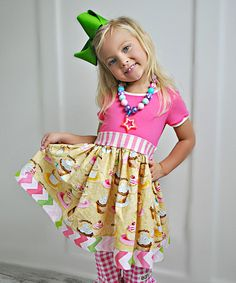 Love this Pink Cap Sleeve Dress - Infant, Toddler & Girls by KPea Original on #zulily! #zulilyfinds