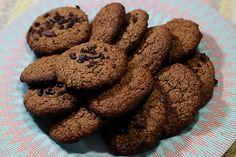 Cookies de cacau sem glúten