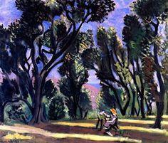 Henri Matisse Painter among the oliver trees - 1923