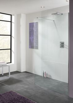 Lakes Cannes Walk In Shower Panels. Frameless shower panel in premium toughened safety glass with easy clean coating. Tile Walk In Shower, Shower Taps, Walk In Shower Designs, Glass Shower, Wet Room Shower Screens, Shower Panels, Lake Bathroom, Small Bathroom, Bathroom Ideas