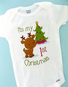 1st Christmas Onesie First Christmas Shirt by ThingsVerySpecial, $13.99