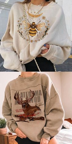 Girls Fall Outfits, Little Girl Outfits, Winter Fashion Outfits, Mode Outfits, Cute Casual Outfits, Mode Ootd, Moda Paris, Sweatshirt Outfit, Mode Vintage