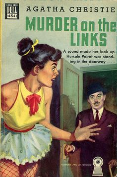 Murder on the Links by Agatha Christie. Golden Age British crime fiction, US paperback edition.