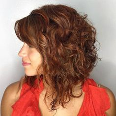 Cute Hairstyles for Medium Curly Hair in 2019 Bob Hairstyles long curly bob hairstyles Modern Bob Hairstyles, Inverted Bob Hairstyles, Classy Hairstyles, Medium Bob Hairstyles, Curly Hair With Bangs, Curly Hair Cuts, Curly Hair Styles, Curly Lob Haircut, Bobs For Curly Hair
