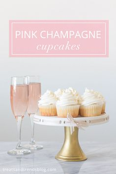 Pink Champagne Cupcakes, New Year's Eve Dessert Recipe Idea (Champagne Cupcake Recipes) New Year's Cupcakes, Wine Cupcakes, Filled Cupcakes, Cupcake Cakes, Cup Cakes, Cupcake Flavors, Cupcake Recipes, Dessert Recipes, Tart Recipes