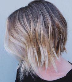 Blonde balayage bob short hair lengths, bob hairstyles for fine hair, t Textured Bob Hairstyles, Short Hairstyles Fine, Layered Bob Haircuts, Haircuts For Fine Hair, Latest Hairstyles, Choppy Haircuts, Teen Hairstyles, Hairstyles 2018, Casual Hairstyles