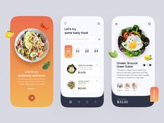 Food Mobile Application by Brandi on Dribbble Mobile Application Design, Mobile Design, App Ui Design, Web Design, Apps, Mobile App Ui, Order Food, Design Projects, Conception