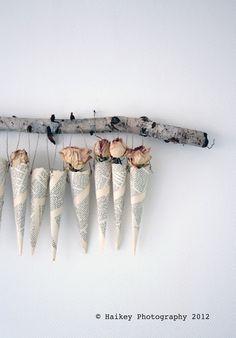 rustic dried roses idea.