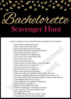 Bachelorette Party Scavenger Hunt by SparklingEverAfters on Etsy Bachelorette Party Scavenger Hunt, Scavenger Hunt Party, Bachelorette Party Planning, Beach Bachelorette, Bachlorette Party, Bachelorette Party Shirts, Scavenger Hunts, Hens Night Games, Wedding Games