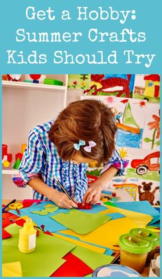 """Summer crafts are also the perfect way for children to occupy their time and explore their imaginative sides—Mom and Dad can participate, too! Rather than hear the dreaded """"I'm bored"""" from your little ones this summer, turn them on to one of these fun hobbies that they've never tried before. You never know, they might develop a lifelong love for a new activity."""
