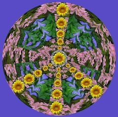 Flower Peace Sign by Anne Cameron Cutri