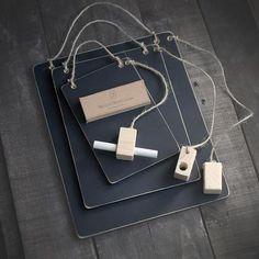 Hanging Memo Chalkboard 3 Pack With Chalk and Chalk Holder Dusters . Made To Order