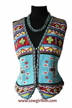 Cowgirl Fashion :: Vests :: ROJA JAW DROPPING BEADED SW MOTIF VEST! - Native American Jewelry|Ladies Western Wear|Double D Ranch|Ladies Uniq...http://www.cowgirlkim.com/cowgirl-fashion/vests/roja-jaw-dropping-beaded-sw-motif-vest.html