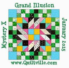 Busy Hands Quilts: Grand Illusion Mystery Quilt-Along {Mystery Reveal and My Block Assembly}