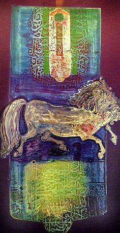 Süleyman Saim Tekcan - oil on canvas