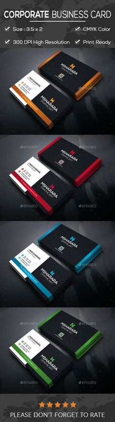 #Corporate #Business #Card - Business Cards Print Templates