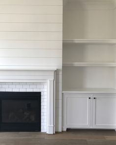 3 Stupefying Useful Ideas: Large Fireplace Living Room fireplace built ins styling.Shiplap Fireplace Diy fireplace with tv above vaulted ceiling. Basement Fireplace, Wooden Fireplace, Cottage Fireplace, Simple Fireplace, Fireplace Garden, Fireplace Built Ins, Brick Fireplace Makeover, Shiplap Fireplace, Farmhouse Fireplace
