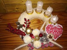 advent Ornament Wreath, Ornaments, Advent, Christmas Wreaths, Home Decor, Decoration Home, Room Decor, Christmas Decorations, Home Interior Design