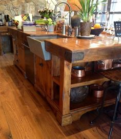 1000+ images about Vintage Butcher Block Islands on Pinterest Butcher blocks Kitchen islands - Butchers Chopping Block