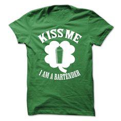 (Deal Tshirt 1hour) Kiss Me I Am A Bartender [Tshirt design] Hoodies, Tee Shirts