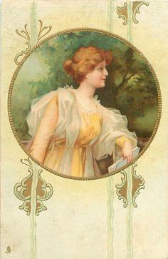 Old Post Card — Art Nouveau Lady, 1905 (1064x1639)