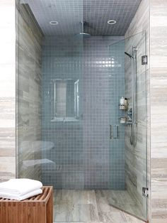 A glass shower lends a luxurious look to any bathroom. More bathroom upgrades: http://www.bhg.com/bathroom/remodeling/planning/our-favorite-bathroom-upgrades/?socsrc=bhgpin071513glassshower=4