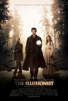 The Illusionist (2006)  Ed Norton, Jessica Biel and Paul Giamatti.  It certainly kept everyone guessing.