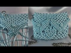 Make your own macrame hanging basket with free patterns and video instructions Macrame Jewelry Tutorial, Macrame Purse, Macrame Knots, Micro Macrame, Macrame Bracelets, Smocking Tutorial, Latch Hook Rugs, Diy Accessoires, Purse Tutorial
