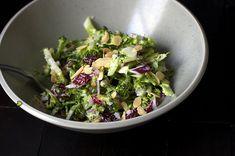 Broccoli Slaw With Cranberries and Toasted Almonds