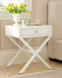 I'm excited b/c finally found what I think is the perfect nightstand for my bedroom. The bad news is that it's approximately $1,000 for each (!) nightstand with shipping, which is way over my budget. Here's a photo of the table -- has anyone seen any tables that look similar to this? I love the clea...