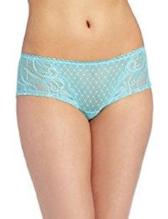 048f32457e3f NWT Wacoal 845115 Reveal Hipster - Boy Short Panty Blue size Large #4