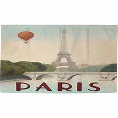 "Thumbprintz City Skyline Paris Rug, 22.5"" x 37"""