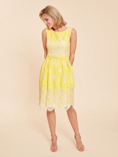 Buy Gina Bacconi Yellow Oline Lace Dress from the Next UK online shop Mother Of The Bride Inspiration, Yellow Lace Dresses, Mother Of Bride Outfits, Best Mother, Dress Making, Just In Case, Dress Outfits, Summer Dresses, Bride Dresses