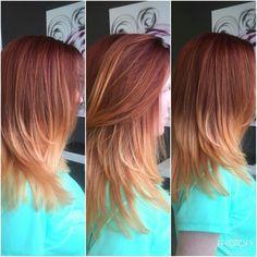 Red ombré hair
