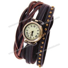 Wholesale Miler Quartz Watch with Roman Numbers Indicate with Long Leather Watch Band for Women (Purple) (PURPLE), Women's Watches - Rosewholesale.com