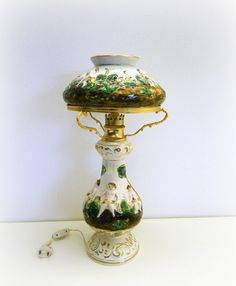 RARE and ELEGANT Antique table lamp porcelain by IdeeRetro on Etsy, €425.00