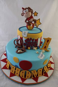 Circus Monkey cake by Andrea's SweetCakes, via Flickr