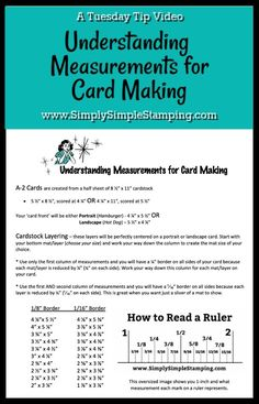 How to Cut Layers for Card Making - Simply Simple Stamping - - Understanding how to cut layers for card making can be a challenge so let's talk about how to measure your cardstock for layering. Card Making Templates, Card Making Tips, Card Making Tutorials, Card Making Techniques, Making Ideas, Card Tricks, Cricut Tutorials, Card Making Inspiration, Challenge
