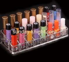 Hot sale acrylic product display stands acrylic lipstick organizer retail display stands MDK-096