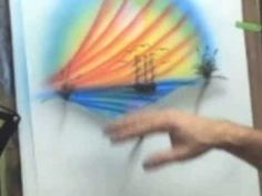 How To Airbrush - Airbrush Beginners Tip- Airbrush Practice Painting Ship - YouTube