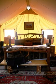 """Amazing """"glamping"""" in Montana!  Now that's my kind of camping!"""