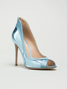 GIANVITO ROSSI Peep Toe 'Ellipsis' Pump
