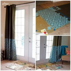 Fab curtains by Sarah of While They Snooze with our Moroccan Key Stencil - a little pattern will do ya! Don't they look great? http://www.whiletheysnooze.blogspot.com/2013/04/stenciled-curtains-tutorial-royal.html